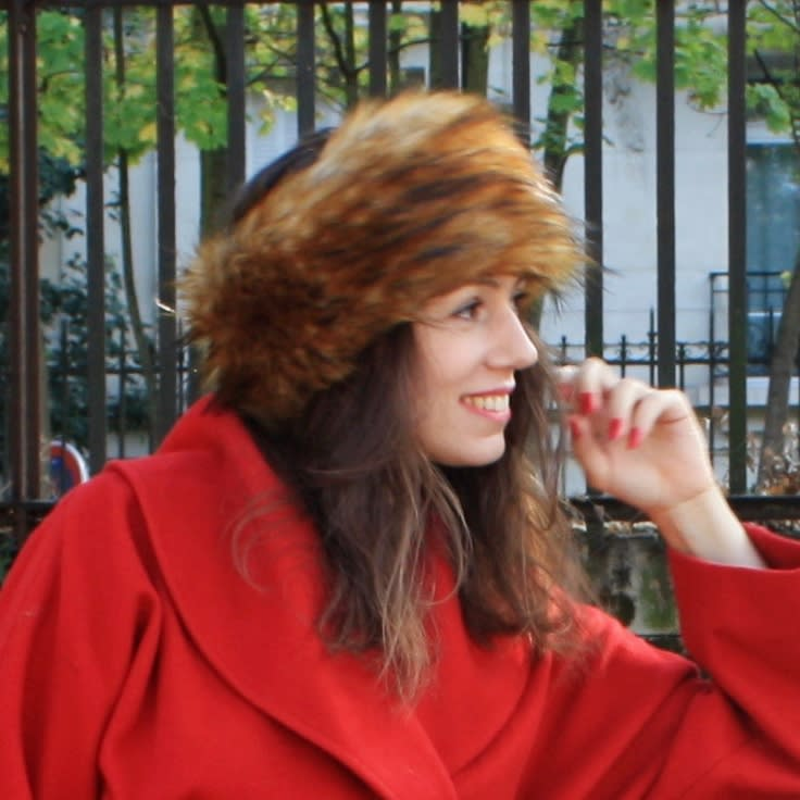 Faux fur head band. Red racoon fur head warmer. Red brown long haired fur ear warmer.