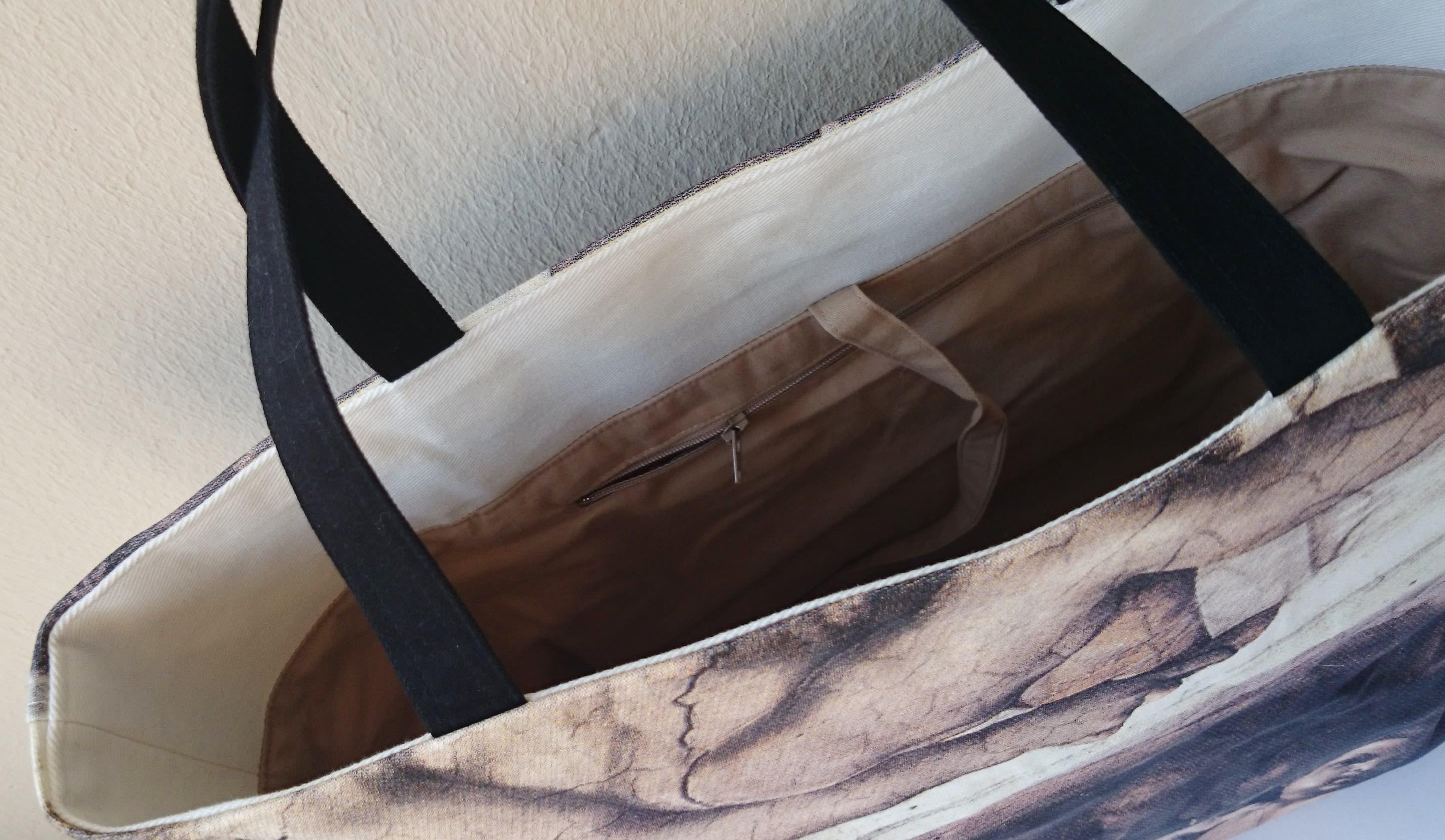 Sac cabas fresque, peinture de Michel-Ange, chic, décontracté, luxe..
