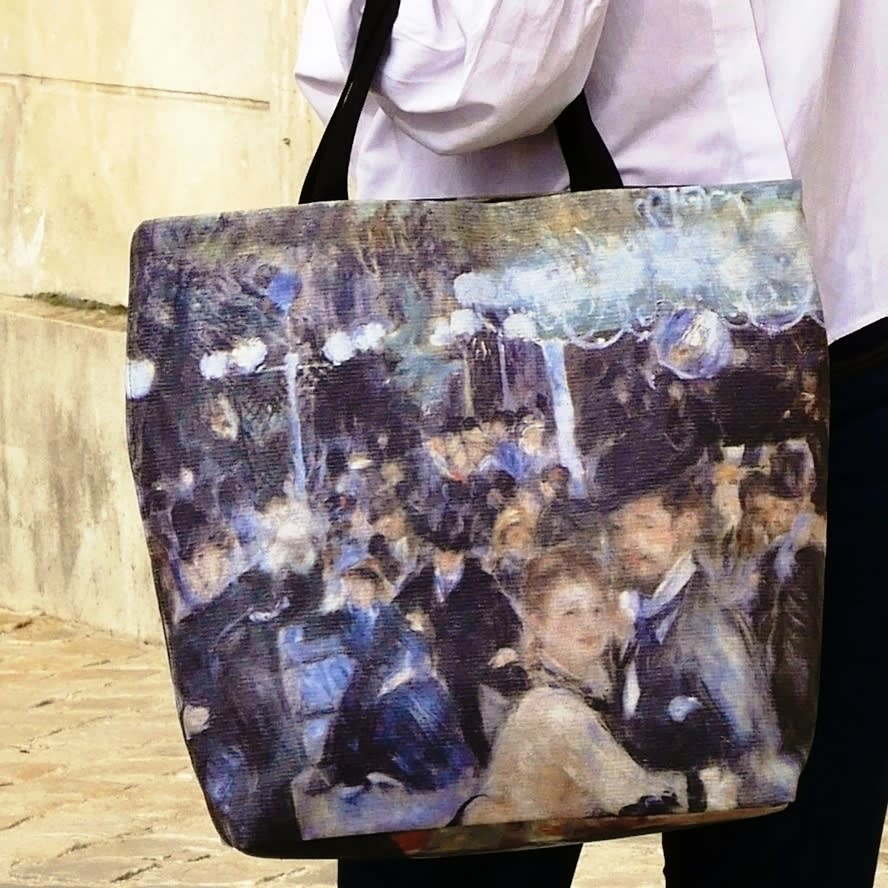 Tote bag, Auguste Renoir painting copy, luxury tote, casual chic trendy beach bag made in France
