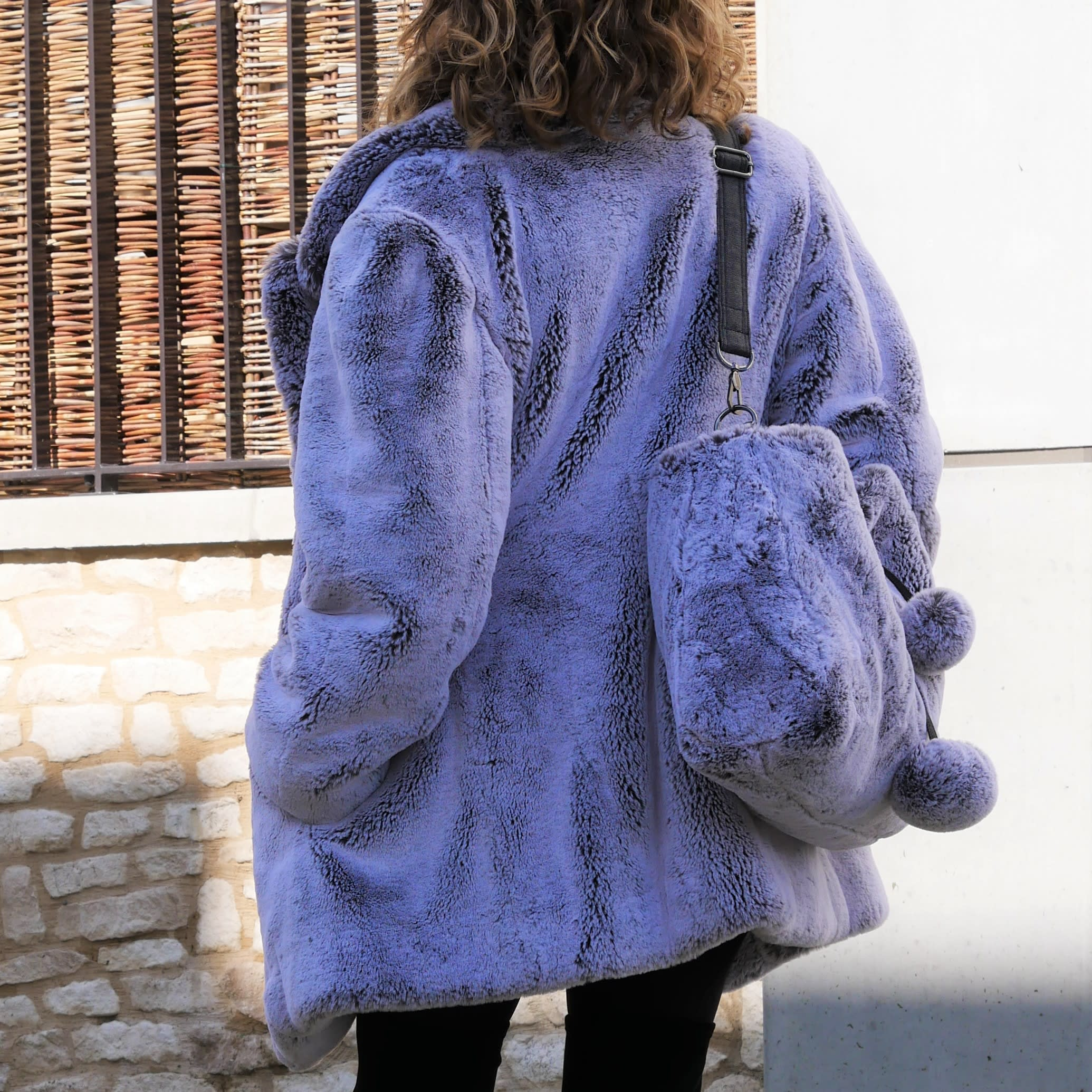 Fur jacket, faux fur loose fitting jacket. Grey and white luxury faux fur jacket. Winter coat, warm and washable.