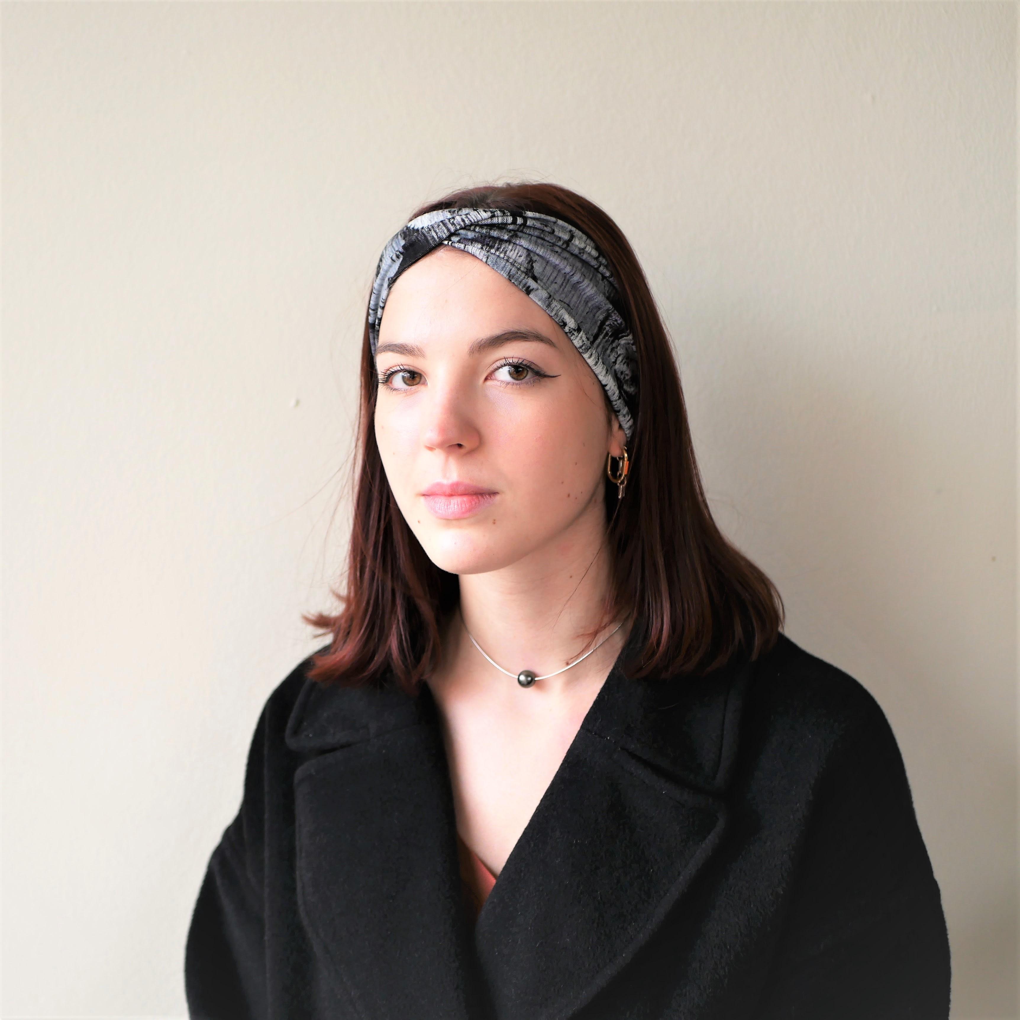 Double twist headband, wide headband, turban headband, yoga headband, workout headband