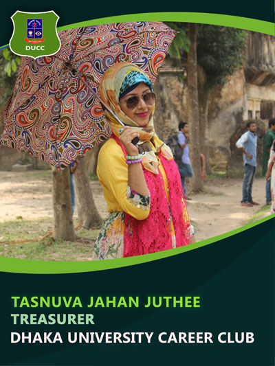 Tasnuva Jahan Juthee - Treasurer-Dhaka University Career Club