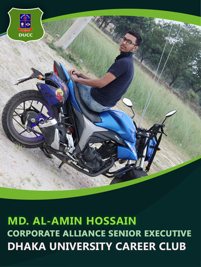 Md. Al-Amin Hossain - Senior Executive-Dhaka University Career Club