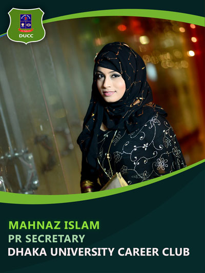 Mahnaz Islam - Public Relation Secretary-Dhaka University Career Club
