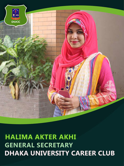 Halima Akhter Ankhi - General Secretary-Dhaka University Career Club