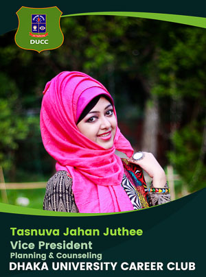 Tasnuva Jahan Juthee - Vice President (Planning and Counseling) - DUCC - 2017-18