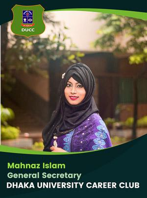 Mahnaz Islam - General Secretary - DUCC - 2017-18
