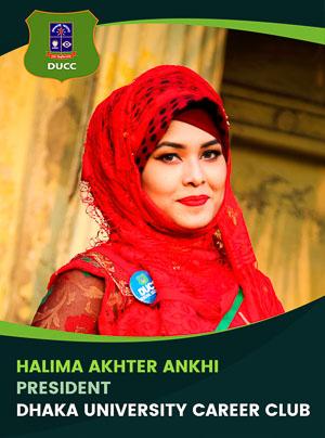 Halima Akhter Ankhi - President - DUCC - 2017-18