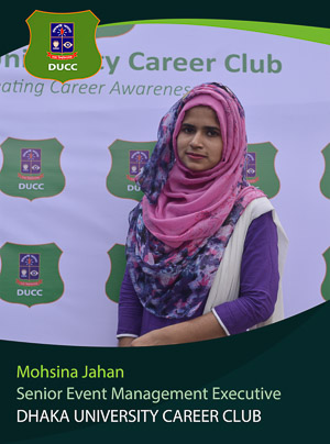 Mohsina Jahan - Senior Executive - DUCC - 2017-18