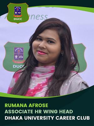 Rumana Afrose - Associate Wing Head - DUCC - 2017-18