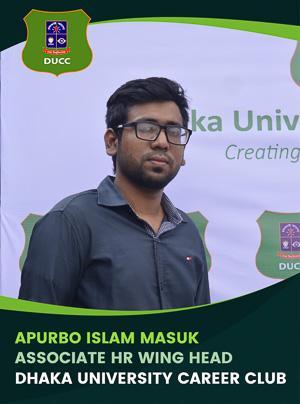 Apurbo Islam Masuk - Associate Wing Head - DUCC - 2017-18
