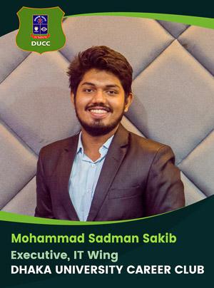 Mohammad Sadman Sakib - Executive - DUCC - 2017-18