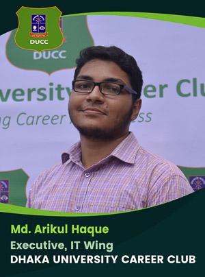 Md. Arikul Haque - Executive - DUCC - 2017-18