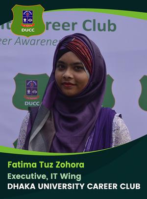 Fatima Tuz Zohora - Executive - DUCC - 2017-18