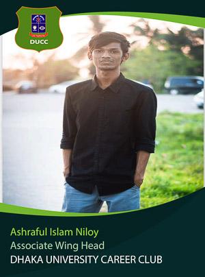 Ashraful Islam Niloy - Associate Wing Head - DUCC - 2017-18
