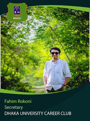 Fahim Rokoni - Team Leader - DUCC - 2017-18