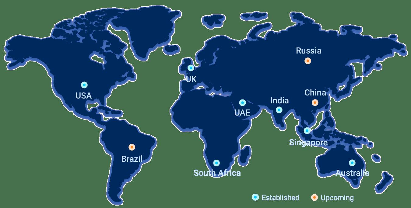 iB Hubs Global Presence