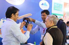 Dr. Lalit Khaitan, Chairman and MD of Radico Khaitan Ltd., waiting to experience iB Cricket.
