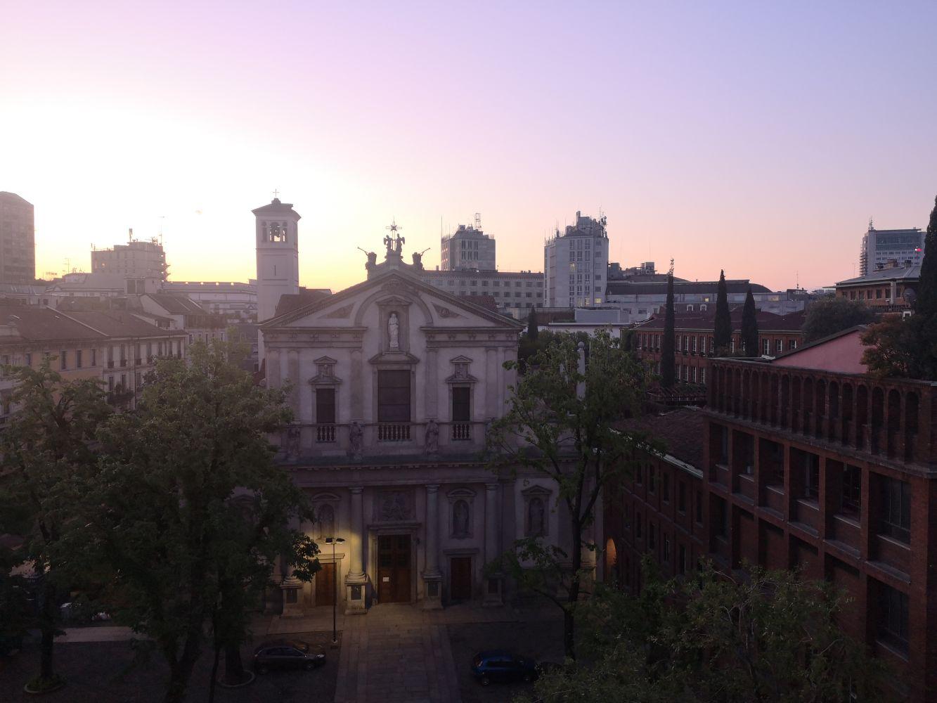 Dalla finestra di Angela Rui alle 6 di mattina
