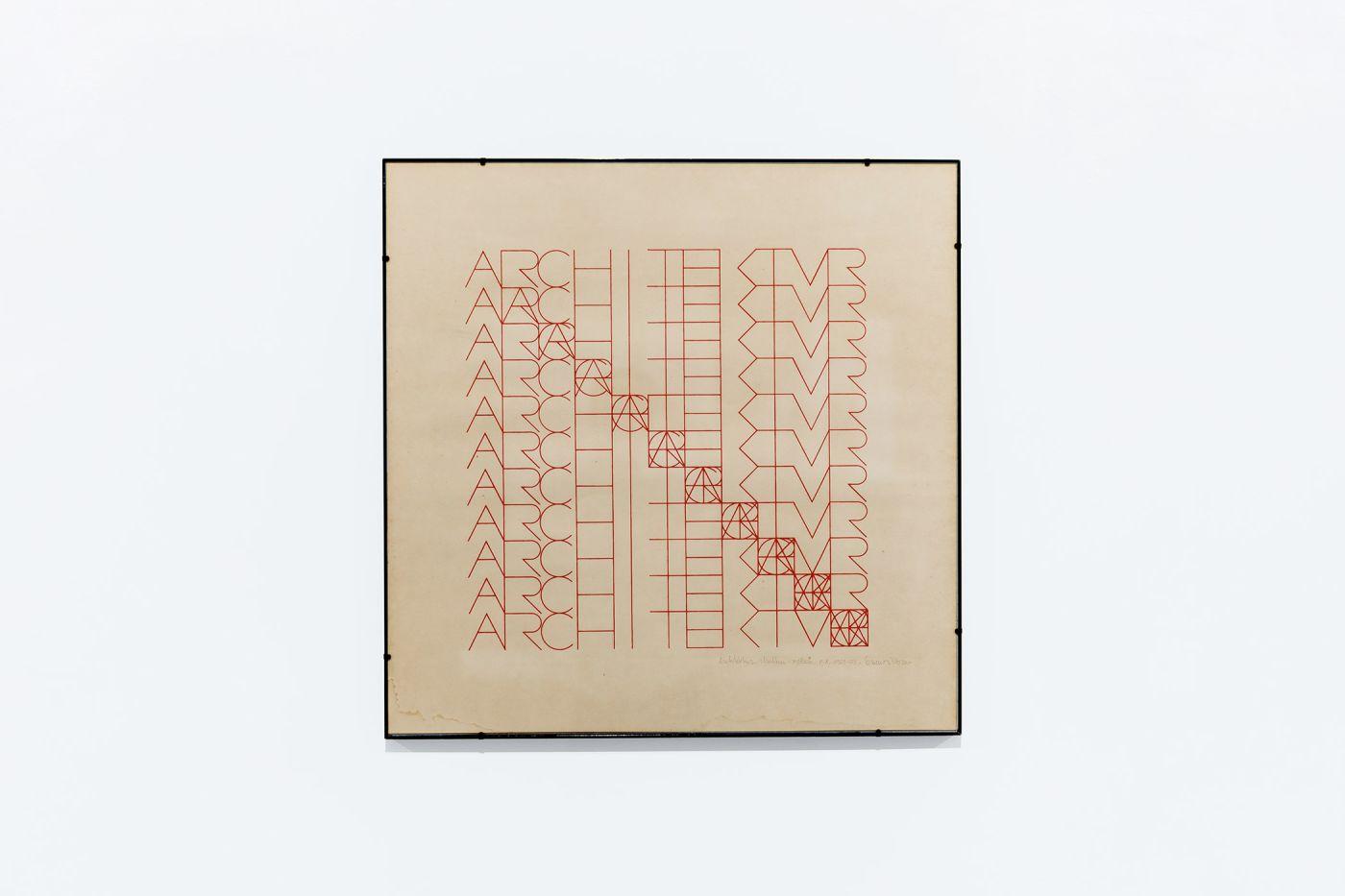 Leonardo Mosso, Architektur, 1972, Serigrafia ad un colore su carta, Prova d'artista, 70 x 70 cm