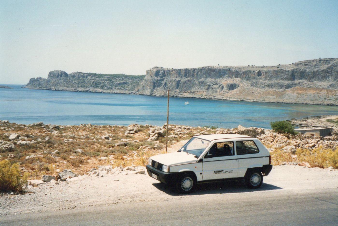 Weymouth, England, 1990 - Fiat Panda 750, foto di Andrew Bone, CC BY 2.0, via Wikimedia Commons