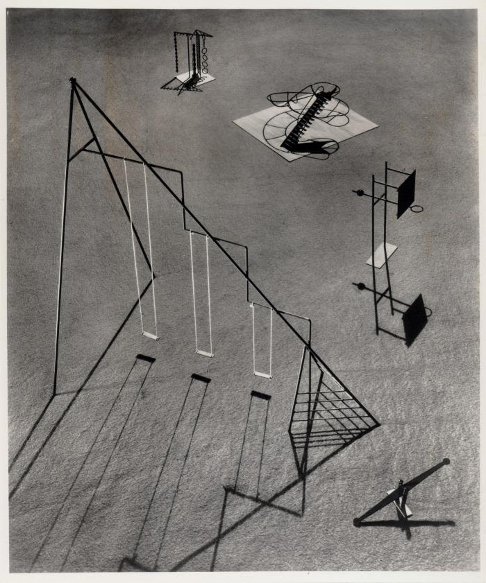 "Playground Equipment for Ala Moana Park, Hawaii, 1940, via INFGM ""I could never believe that the experience of sculpture had to be restricted to vision only. The making and ownership of art could also be beyond personal possession—a common and free experience"""