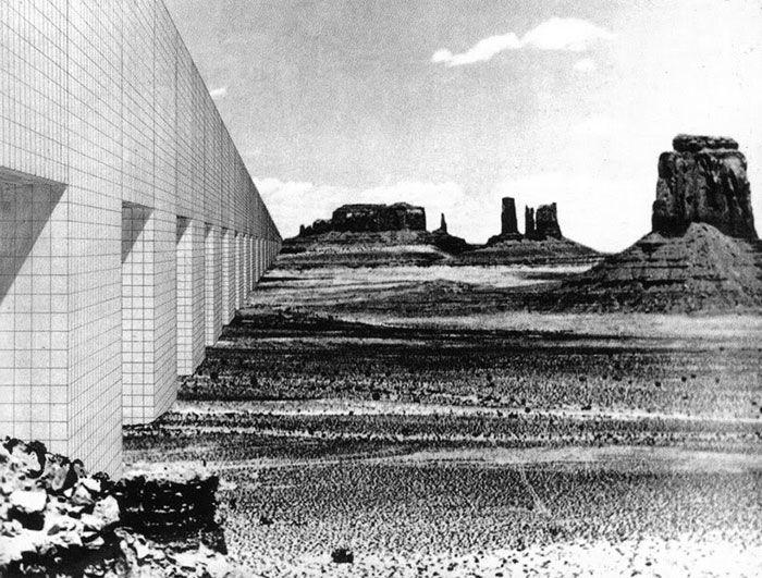 Superstudio - Monumento Continuo (Arizona Desert) 1969, fotomontaggio