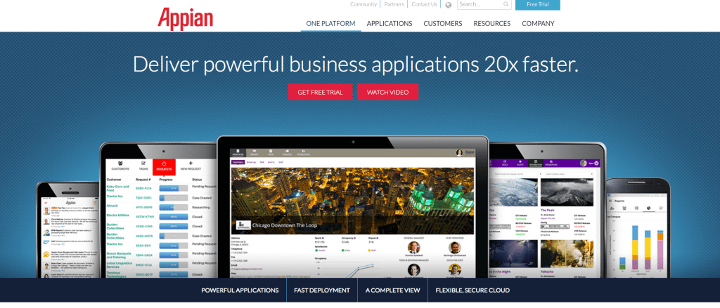 Appian website screenshot