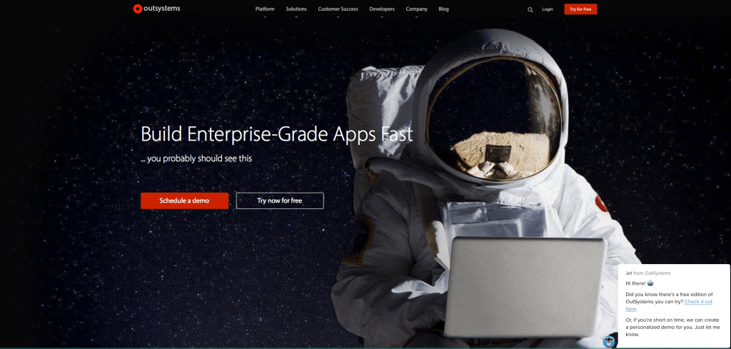 Outsystems website screenshot