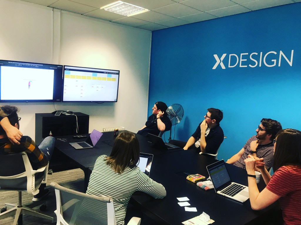 A product discovery workshop session at xDesign