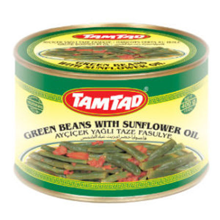 tamtad green beans with sunflower oil 400g