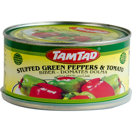 tamtad stuffed green pepper and tomato 400g
