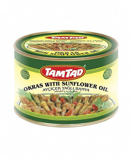 tamtad okras with sunflower oil 400g
