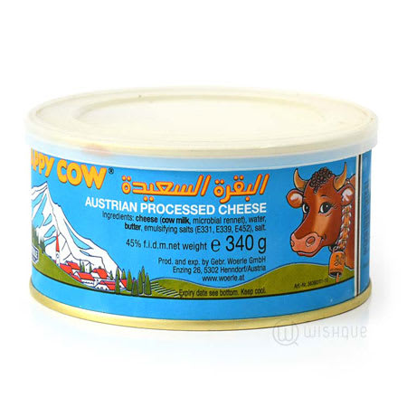 happy cow processed cheese 340g