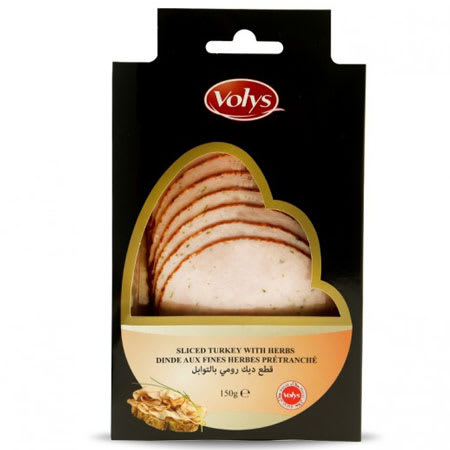 volys sliced turkey breast with herbs halal 150g