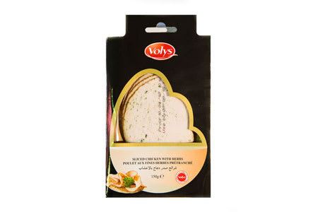 volys sliced chicken with herbs halal 150g