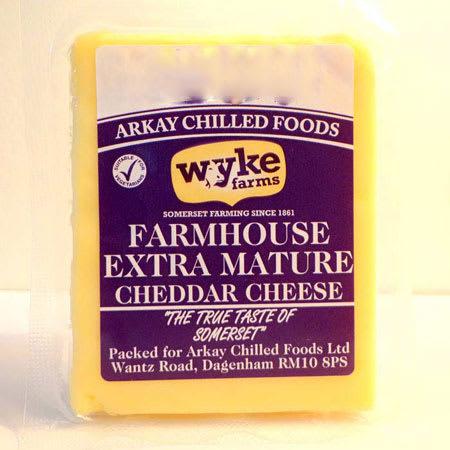 wyke farms farmhouse extra mature cheddar cheese 180g
