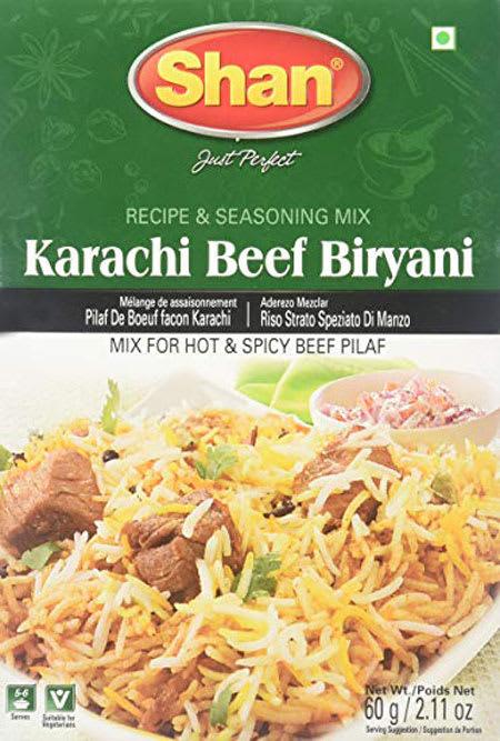 shan karachi beef biryani 60g