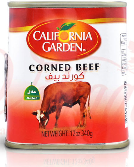 california garden corned beef halal 340g