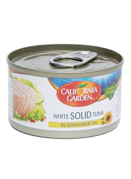 california tuna in sunflower oil 185g