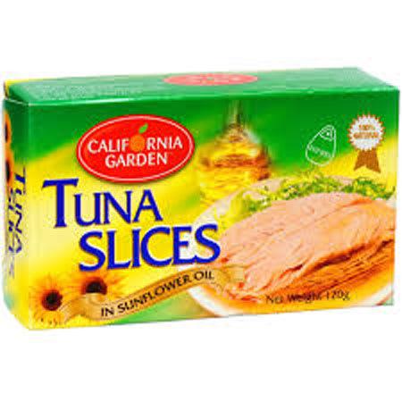 california tuna slice in sunflower oil 120g