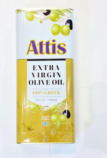attis extra virgin olive oil 5l