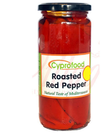 cyprofood roasted red peppers