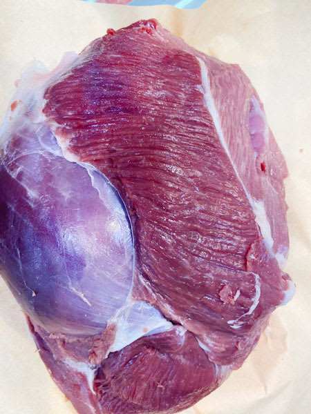 lamb leg no bones no fat halal 1kg