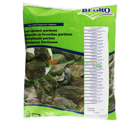 begro liaf spinach portions 1000g