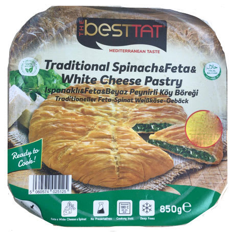 best tat pastry with feta & white cheese & spinach 850g