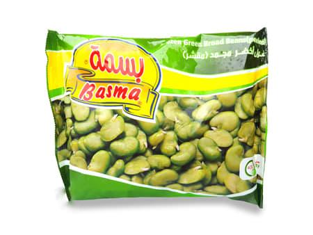 basma frozen green broad beans peeled 400g