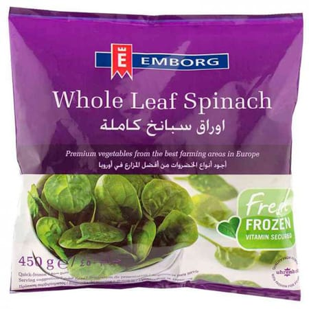 Emborg Whole Leaf Spinach 450G