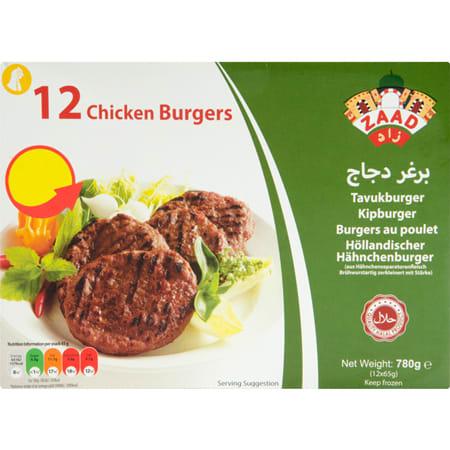 Zaad Chicken Burger 780G halal