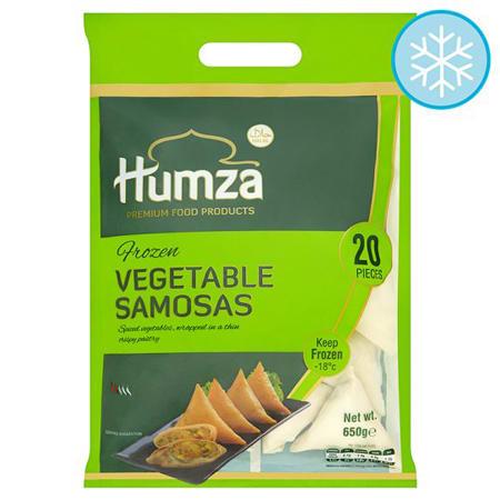 humza frozen vegetable samosa halal 20 pieces